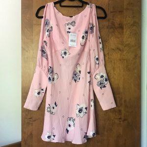 NWT Free People Long Sleeve Mini Dress